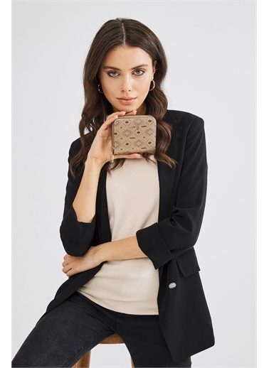 Deri Company Deri Company Basic Bayan El Cüzdan Altın